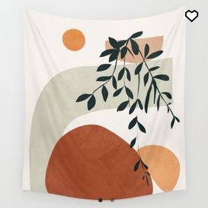 Soft Shapes I Wall Tapestry